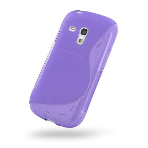 Softcase Mini 3 samsung galaxy s3 mini soft purple s shape pattern pdair