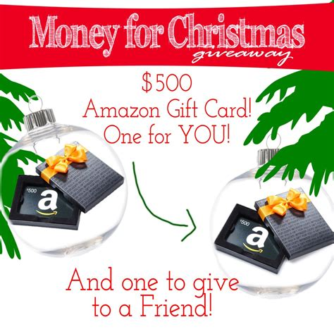 Amazon Gift Card For Cash - money for christmas giveaway 500 amazon gift card for you and 500 for a friend