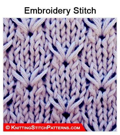 embroidery stitches on knitting 394 best knitting stitch patterns images on