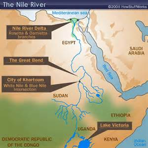 Nile River On World Map by Where Is Nile River Viewing Gallery