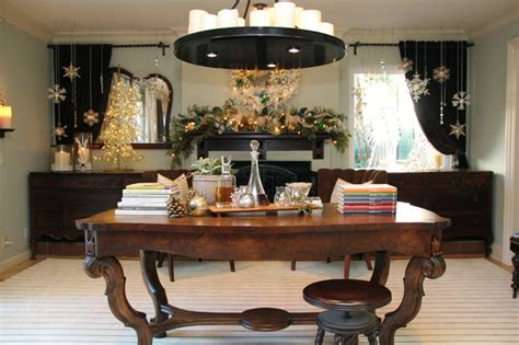best holiday decorating ideas houzz mantel decor traditional dining room san diego by robeson design