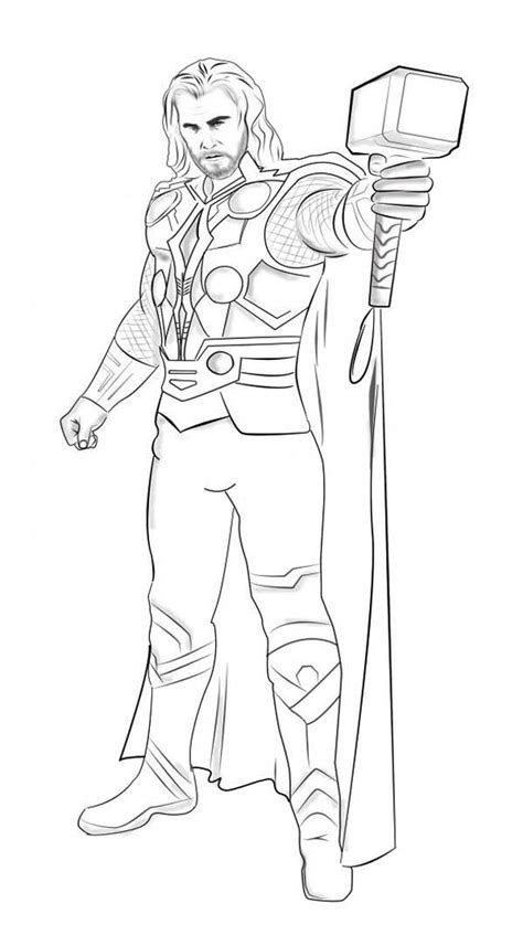 Coloring Pages Thor printable thor coloring pages coloring me