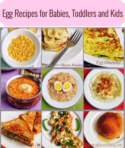 printable recipes for baby food egg recipes for babies toddlers and kids homemade baby