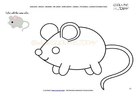 small mouse coloring page exle coloring page little mouse color mouse picture