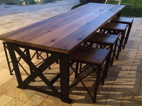 wood patio table outdoor tables chairs reclaimed wood outdoor bar table