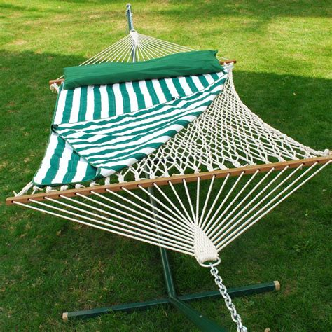 Algoma Hammock Algoma 13 Cotton Rope Hammock With Hanging Hardware Pad