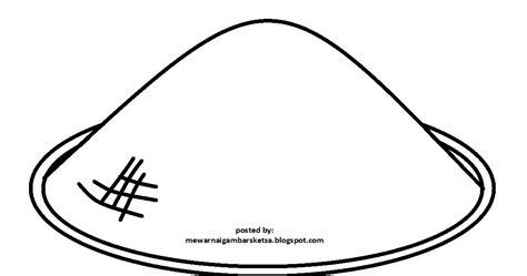 mewarnai gambar mewarnai gambar sketsa caping gunung topi petani
