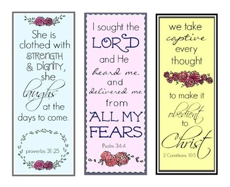 printable bookmarks with bible verses how to cut fear at its roots true and faithful