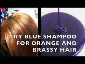 diy how to make blue purple shampoo for brassy orange hair youtube