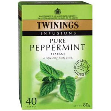 Twinings Peppermint Herbs 25x 2 Gram Box Peppermint Teh twinings herbal infusions peppermint tea bags pack 40