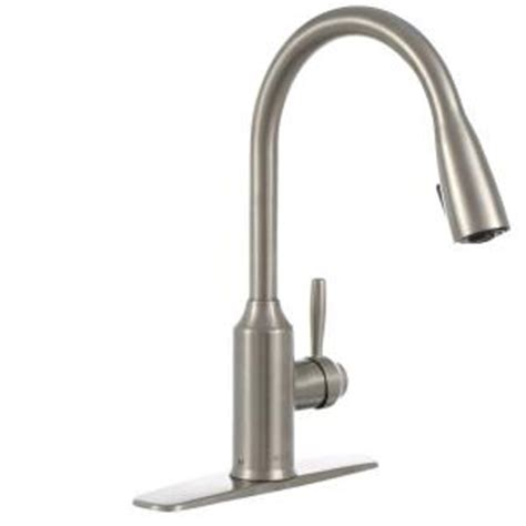 glacier bay pull kitchen faucet glacier bay invee single handle pull sprayer kitchen faucet in stainless steel fp4a4080ss