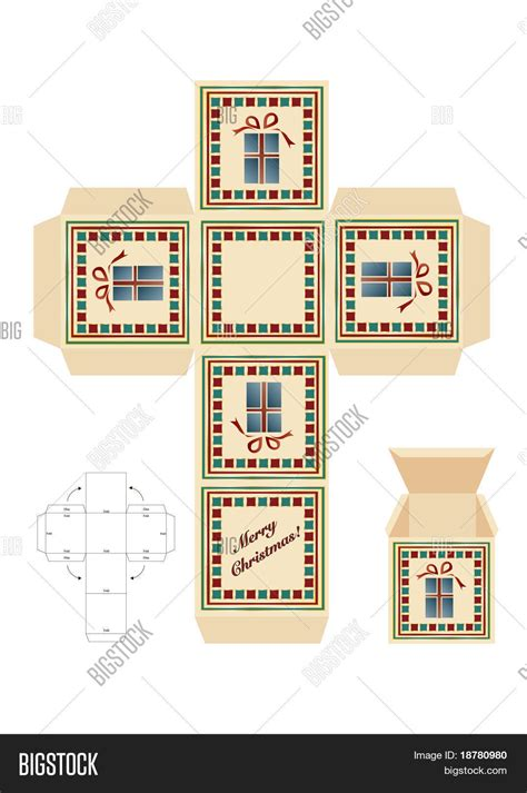 christmas gift box cut out vector photo bigstock