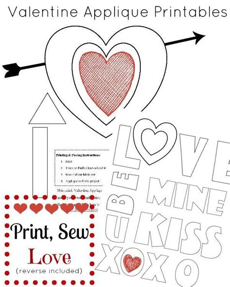 sewing patterns templates designs projects store 9 free patterns for handmade valentine gifts
