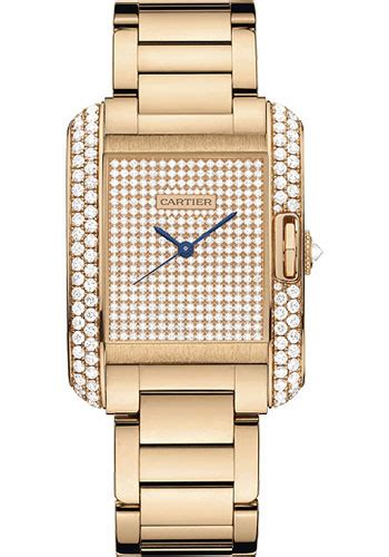 Cartier Cyntia 9005 Set cartier tank anglaise pink gold with diamonds watches
