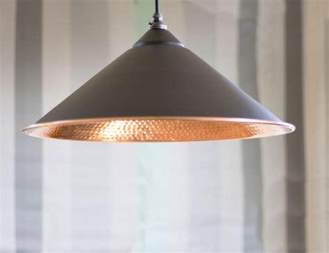 hammered copper pendant light black hammered copper yardley pendant light period home