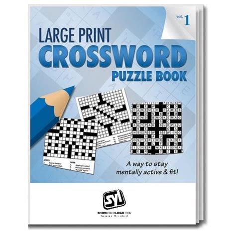 large print crossword puzzle book volume 1 show your logo