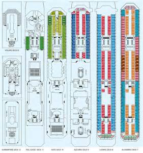 costa pacifica deck plans costa pacifica cruiseship costa cruises holidays greece