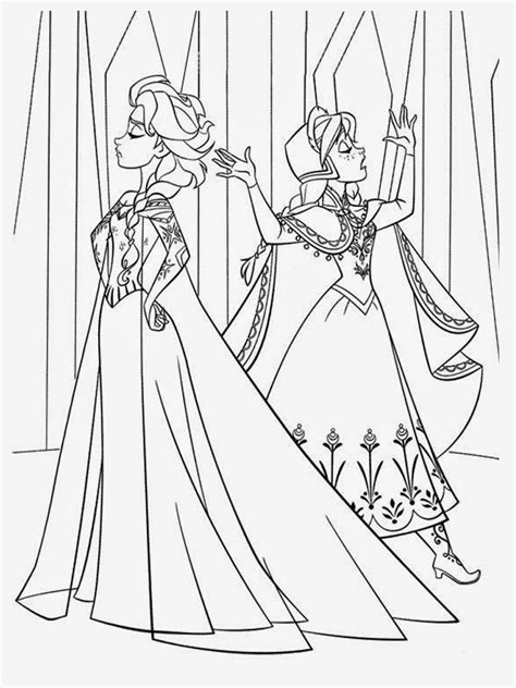 free elsa and anna coloring pages