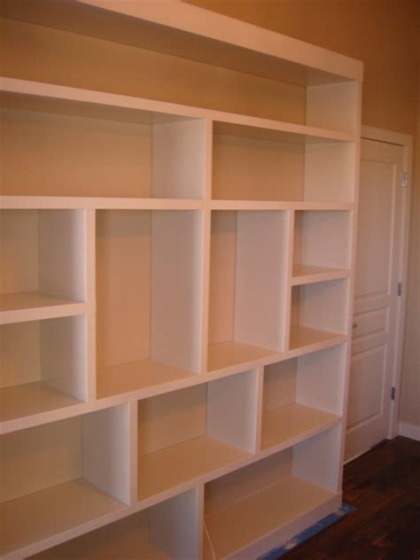 Diy Built In Bookcases Finished Built In Bookcase Diy Pinterest