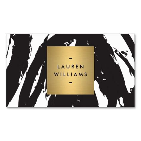 add a card template to magiccardeditor abstract black brushstrokes with gold name logo business