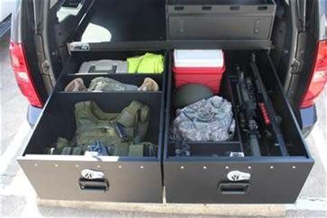 suv storage drawers truck weapon storage