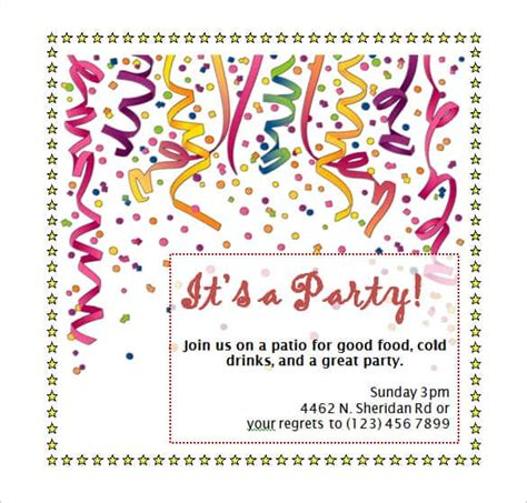 microsoft office templates for birthday invitations