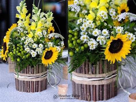 Sunflower Centerpieces For Weddings Fuller Photography 2013 August
