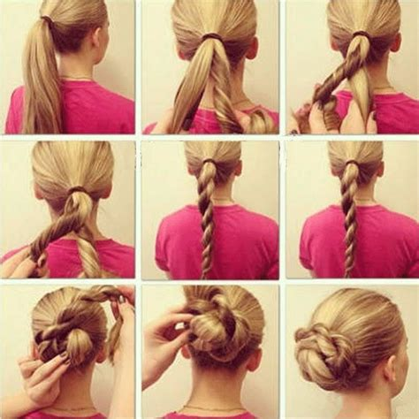blonde hairstyles tutorial cute blonde braid updo hairstyle tutorial from our