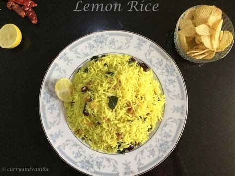 Lemon Rice Recipe (South Indian Style) - Curry and Vanilla Lemon Rice Recipe South Indian Style