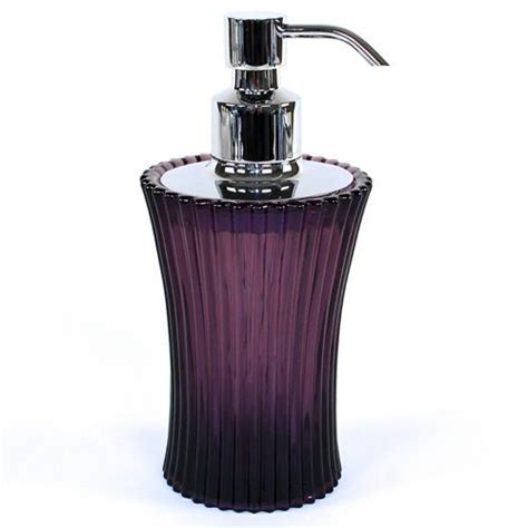 decorative lotion soap dispenser purple glass gedy