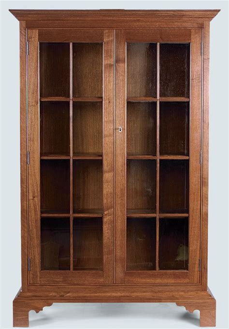 glass front bookcase finewoodworking