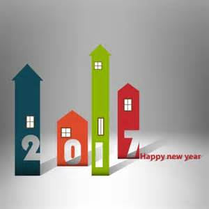 home design for new year house with happy new year 2017 background vector vector