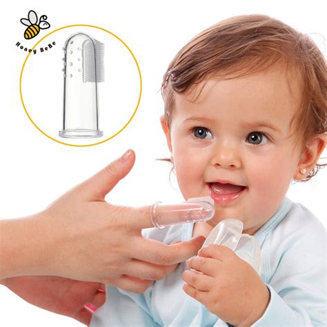 finger toothbrush baby silicone finger toothbrush children teeth clear gum brush infant deciduous