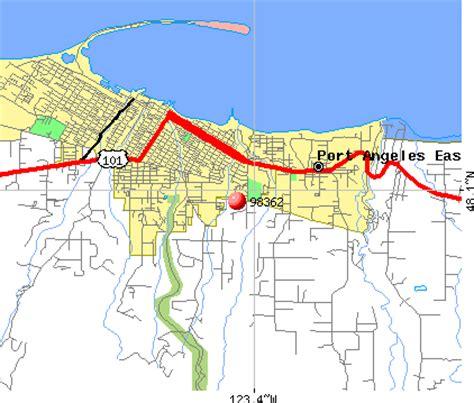 port angeles map port angeles zip code map zip code map