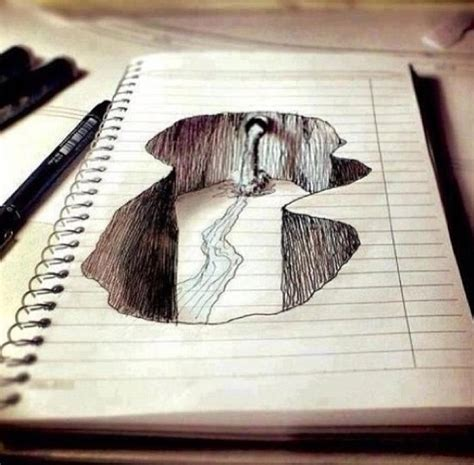 Drawing Notebook by 3d Notebook Paper Drawing