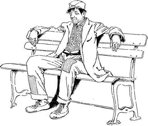 how to draw people sitting on a bench man on bench clipart etc