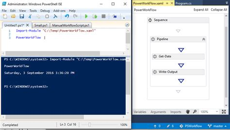 workflow visual studio powershell workflows and visual studio technology