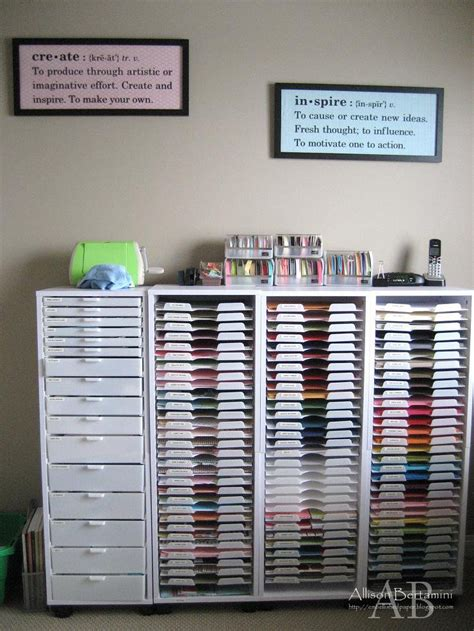Craft Paper Storage Ideas - embellished paper my new craft room
