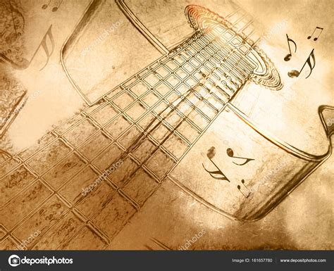 imagenes vintage de notas musicales fondo de m 250 sica retro con la guitarra en el estilo de