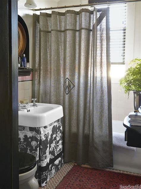 Bathroom Shower Curtains Chinoiserie Bathroom With Skirted Vanity Transitional Bathroom