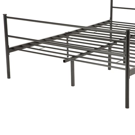 black full size bed frame full size metal bed frame platform headboards w 6 legs
