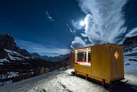 the starlight room tiny starlight room in the dolomites offers dramatic views of the alpine landscape