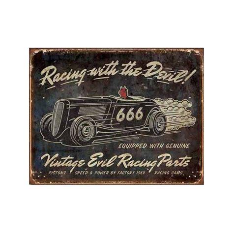 plaque metal decorative vintage evil racing plaque metal