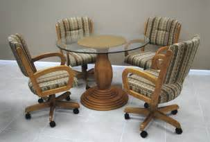 dinette sets with caster chairs kitchen chairs kitchen chairs with rollers