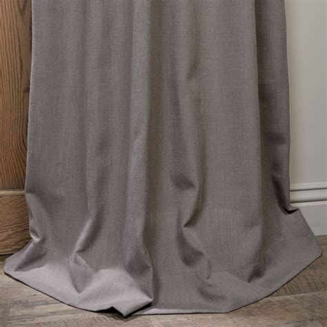 linen curtains with grommets buy pewter grey grommet heavy faux linen curtain