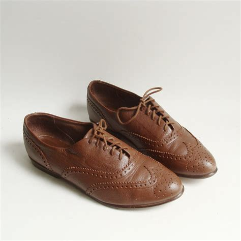 oxfords shoes for shoes 7 5 brown leather oxfords lace up by