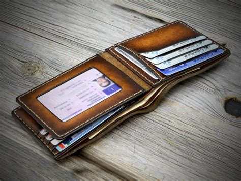 Mens Handmade Leather Wallet - mens leather wallet leather wallet handmade in italy id