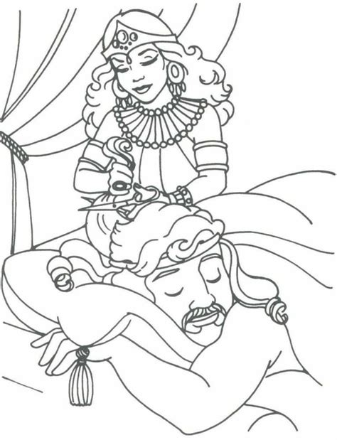 samson coloring page samson bible coloring pages coloring home