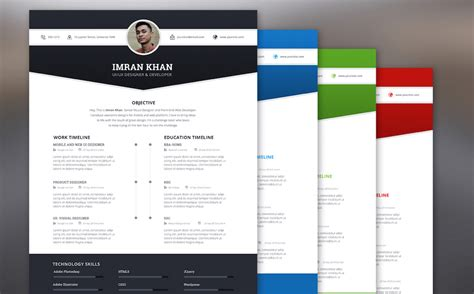Resume Template Color by Best Free Resume Templates In Psd And Ai In 2017 Colorlib