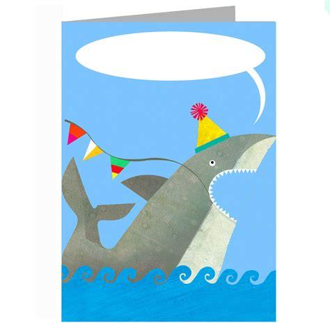 Shark Birthday Card Personalised Shark Birthday Card By Kali Stileman